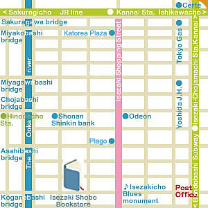 Access map Isezaki Shobo Bookstore